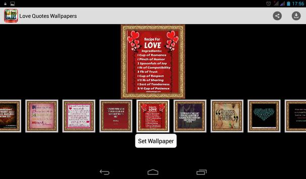 Love Quotes Wallpapers screenshot 1