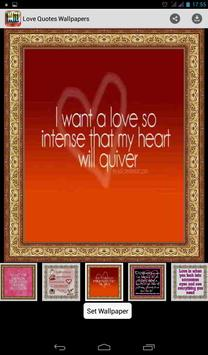 Love Quotes Wallpapers screenshot 6
