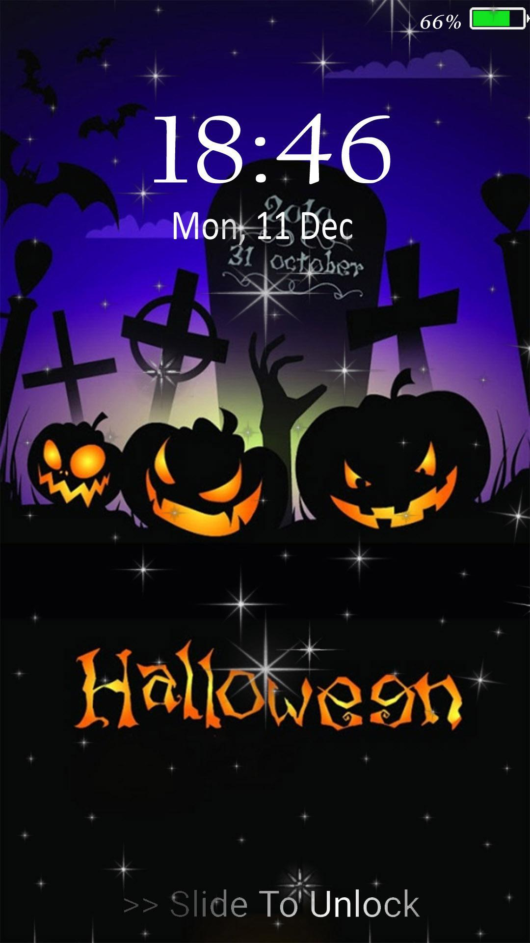 Happy Halloween Live Wallpaper Lock Screen For Android Apk