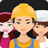 Career test face scanner icon