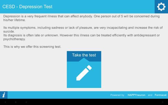 CESD Depression Test apk screenshot