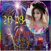 youcam frame happy new year 2018 icon
