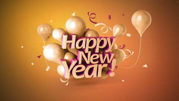 Happy New year 2018 photo poster