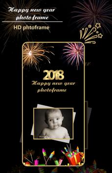 New Year 2018 Photo Frames poster