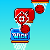 Free throwing basketball 2048 icon