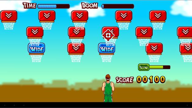Free throwing basketball 2048 apk screenshot