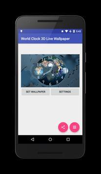 World Clock 3D Live Wallpaper apk screenshot
