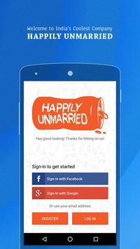 Happily Unmarried App poster
