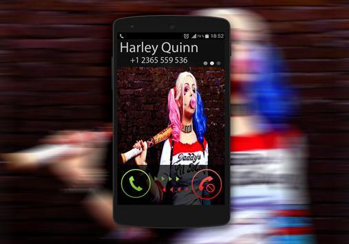 Harley Quinn Call You Fake poster