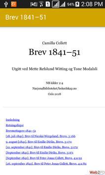 Brev 1841–51 Camilla Collett poster