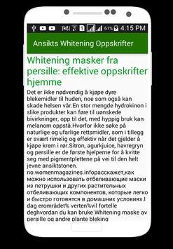 Ansikts Whitening Oppskrifter screenshot 1