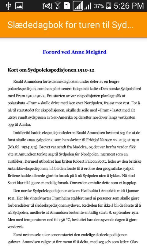 Slaededagbok For Turen Til Sydpolen For Android Apk Download