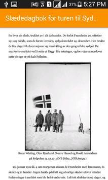Slædedagbok for turen til Sydpolen apk screenshot