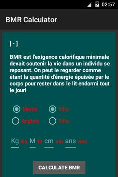 BMR Calculator apk screenshot