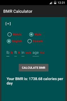 BMR Calculator poster