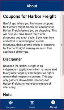 Coupons for Harbor Freight Tools screenshot 4