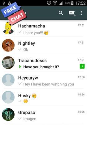 Simulator fake app chat Fake video