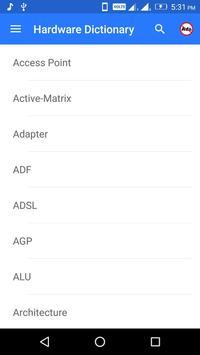 Hardware Dictionary screenshot 1