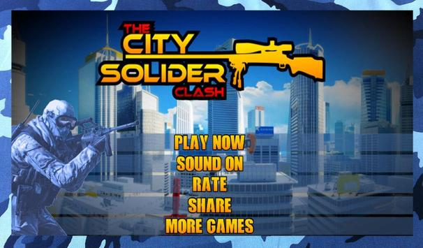 City Soldier Clash poster