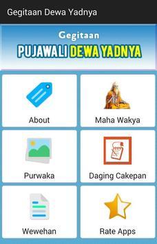 Kidung Gegitaan Dewa Yadnya Hindu poster