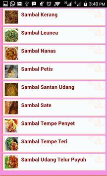 Resep Sambal Pedas Nusantara poster