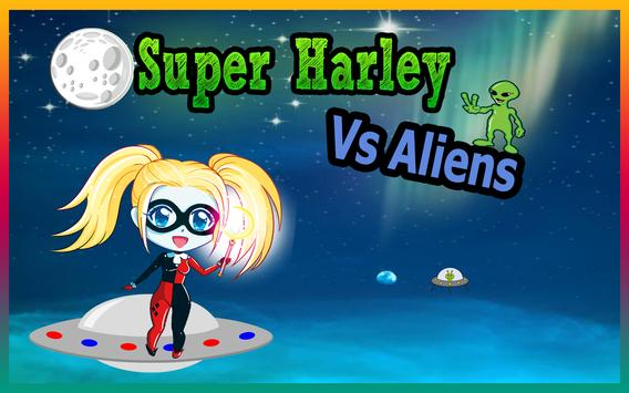 Super Harley Quinn vs Aliens poster