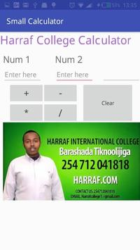 Harraf small calculator by Harraf  college apk screenshot
