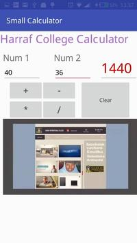 Harraf small calculator by Harraf  college screenshot 2
