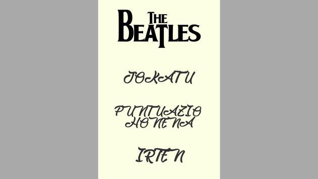 The Beatles Galdetegia screenshot 1
