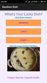 Lucky Dish- choosing from Breakfast, Lunch, Dinner apk screenshot
