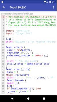 Touch BASIC screenshot 1
