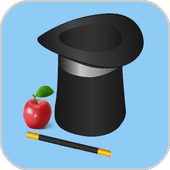 Hat and apple icon