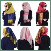Scarf, shawl models icon