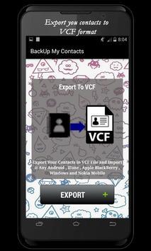 Backup My Contacts screenshot 3
