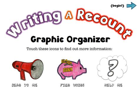 Writing A Recount poster