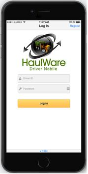 HaulWare Driver Mobile poster