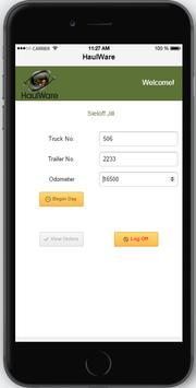 HaulWare Driver Mobile apk screenshot