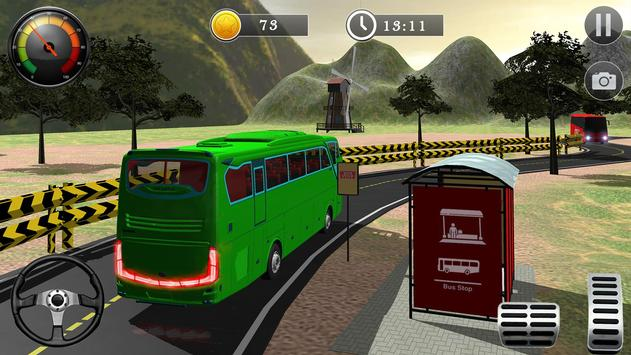 Uphill Off Road Bus City Coach Bus Simulator 2018 screenshot 23