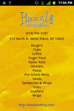Hazels Cafe and Catering poster