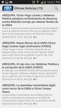 HBA Noticias Arequipa poster