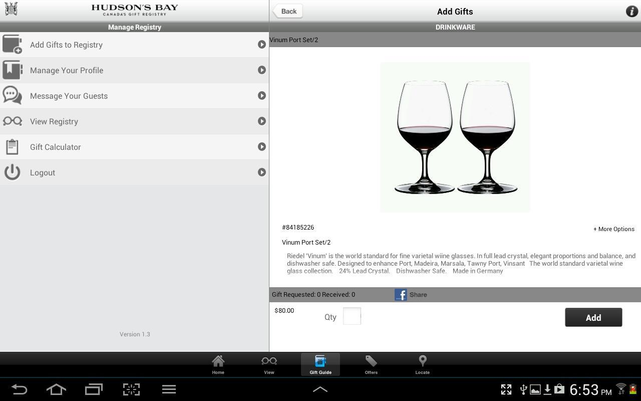 Hudsons Bay Gift Registry Apk Download Free Shopping App For