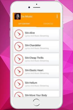 Sia - Music With Lyrics screenshot 1