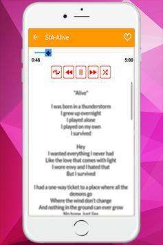 Sia - Music With Lyrics screenshot 3