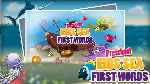 PreSchool Kids Sea First Words poster