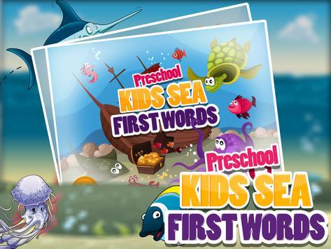 PreSchool Kids Sea First Words apk screenshot