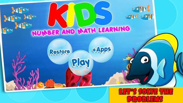 Kids Number and Math Learning poster