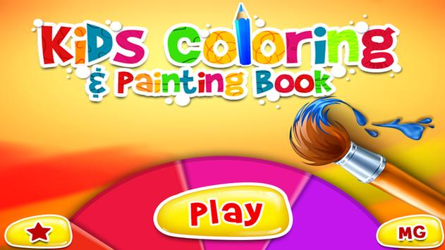 Kids Coloring & Painting Book poster