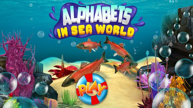 Alphabet in Sea World for Kids poster