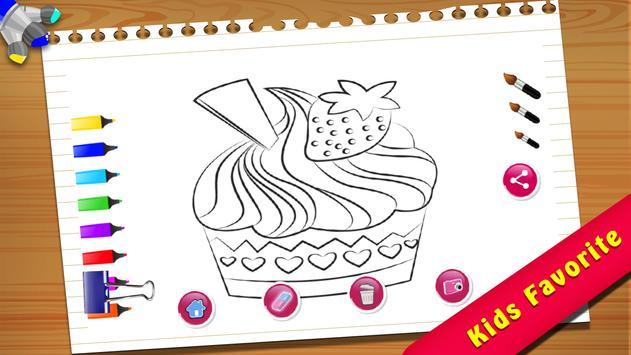 Cupcake Coloring Book screenshot 2