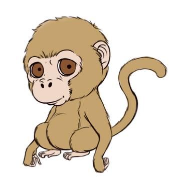 How to Draw a Monkey poster